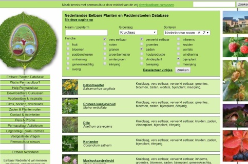 eetbare planten database
